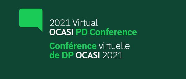 Logo of 2021 Virtual OCASI PD Conference