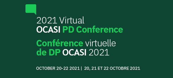 Banner of 2021 Virtual OCASI PD Conference