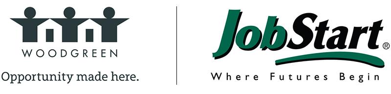 Logos of Woodgreen and JobStart