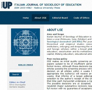 Italian Journal of Sociology of Education