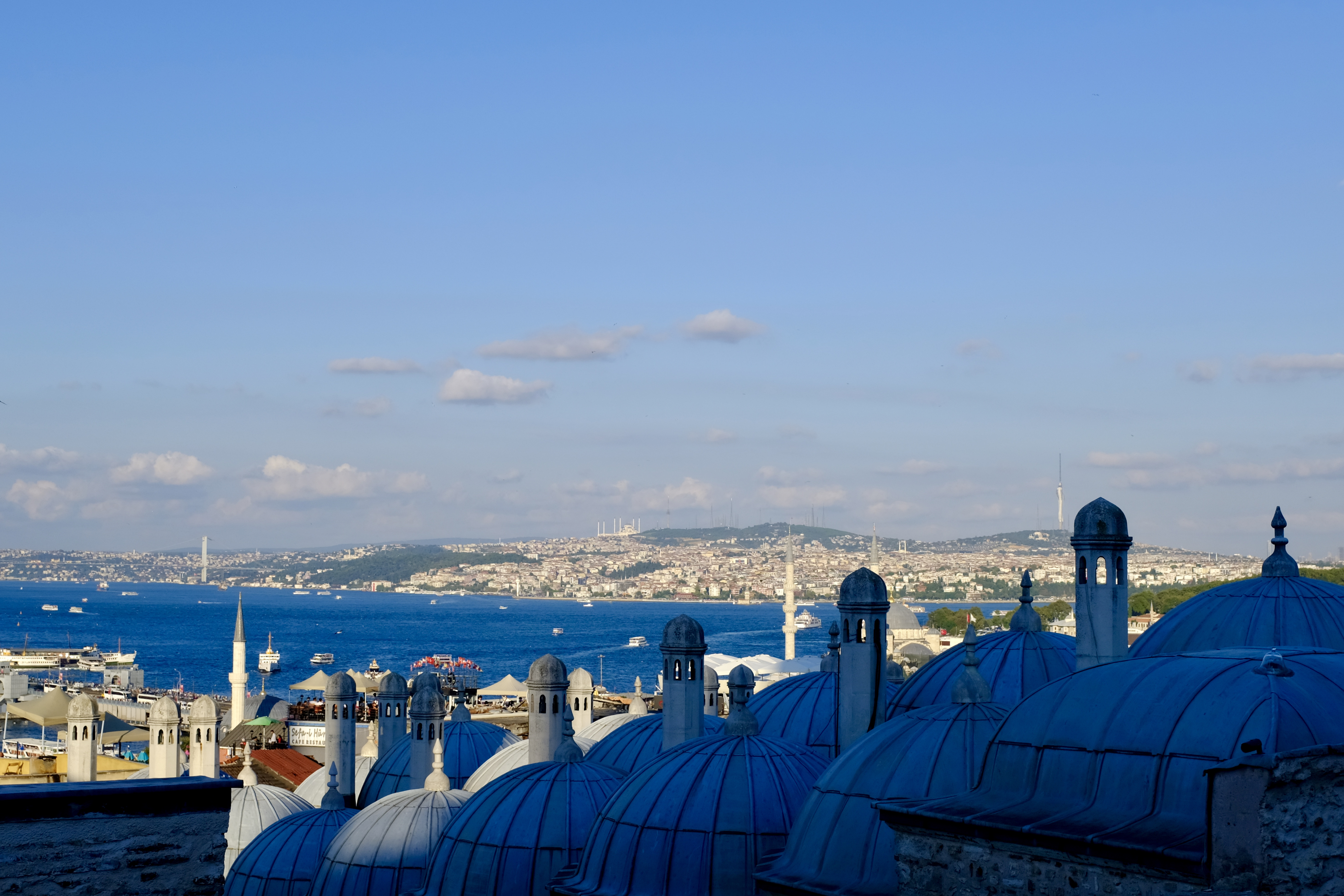 Bosphours view from suleymaniye Mosque