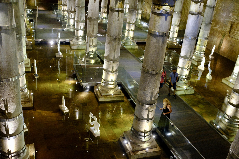 The Byzantine cistern in Istanbul