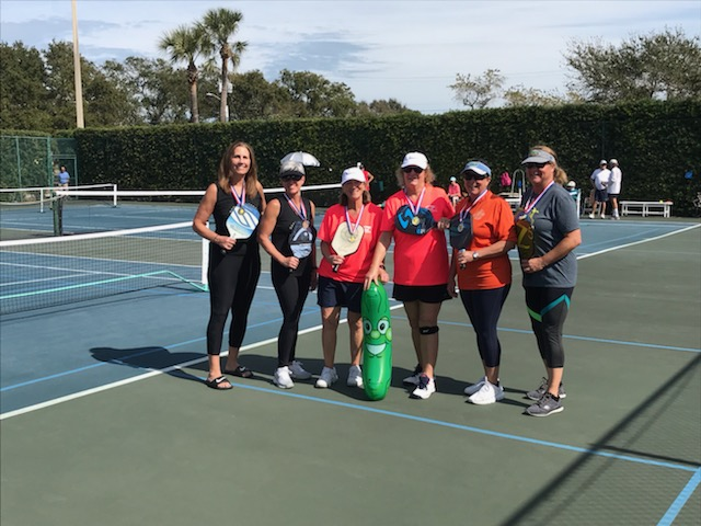 Ladies medalist at the 2nd Annual Space Coast Paddle Battle
