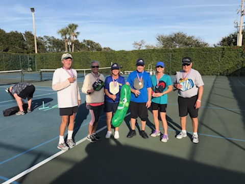 Mixed doubles medalist at the 2nd Annual Space Coast Paddle Battle