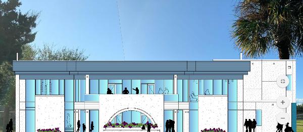 artist rendering of Multi-Generational Center