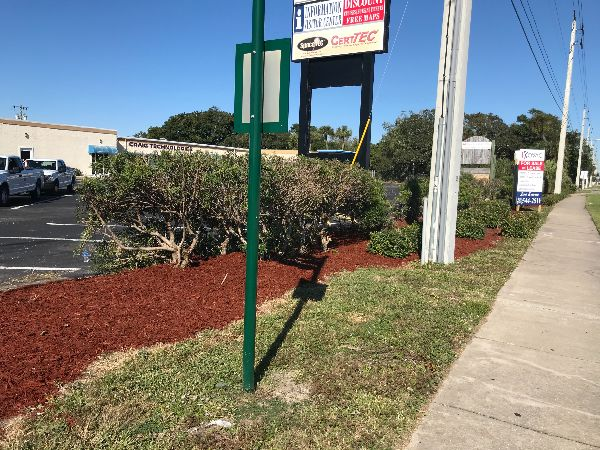 new mulch in bed along road