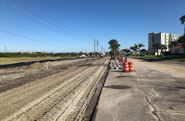 Milling and reconstruction of the westbound lane of West Central Boulevard – looking east.