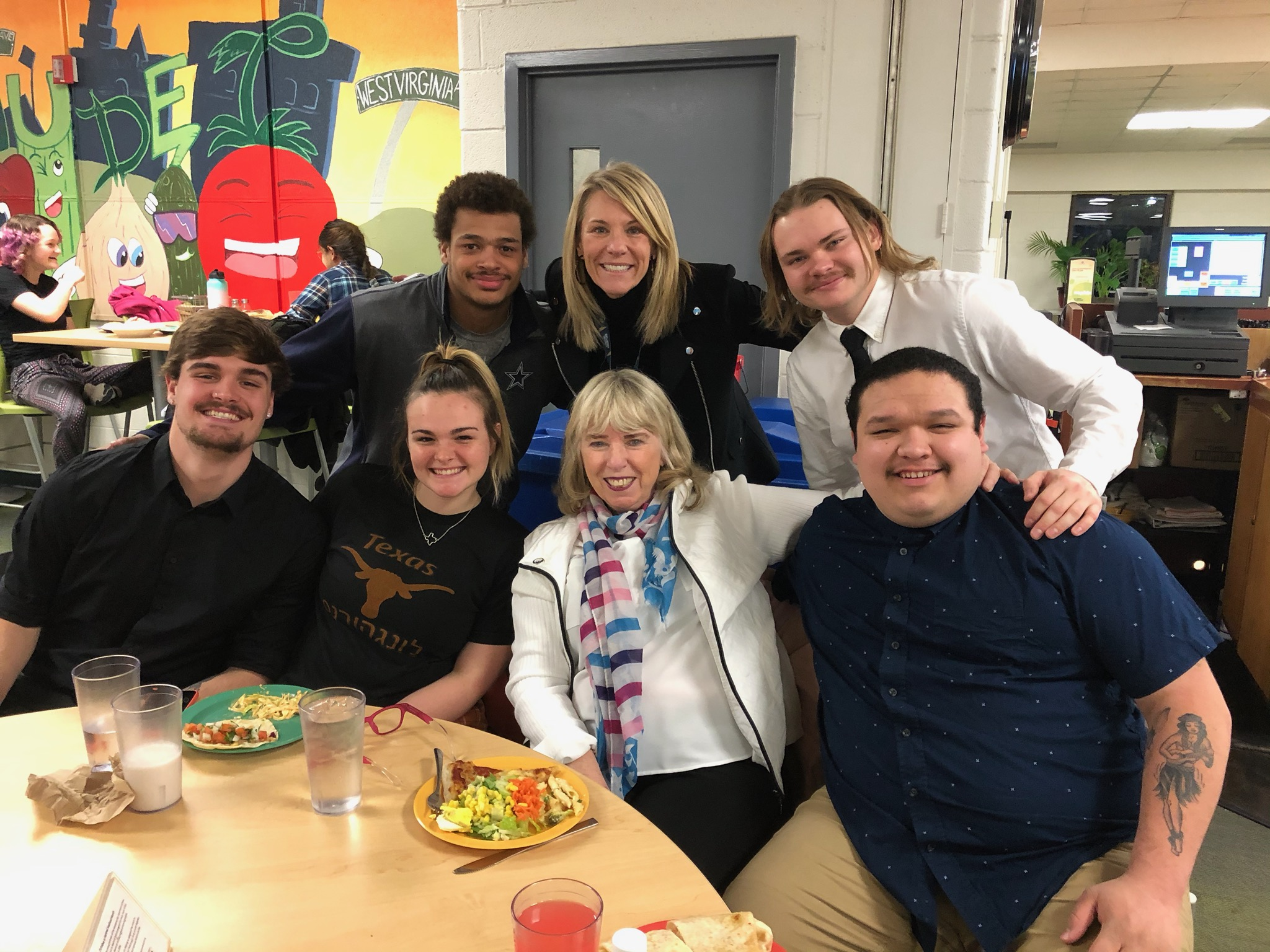 TSD Alumni at Gaulladet cafeteria with Superintendent Bugen