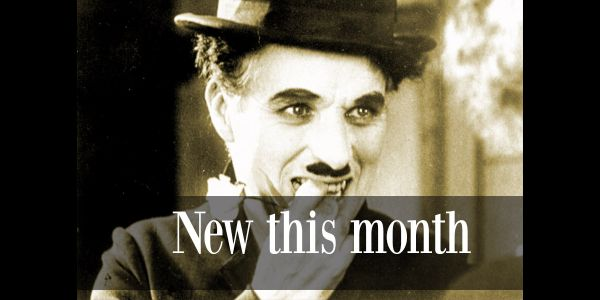 image of Charlie Chaplin with the text; New the month