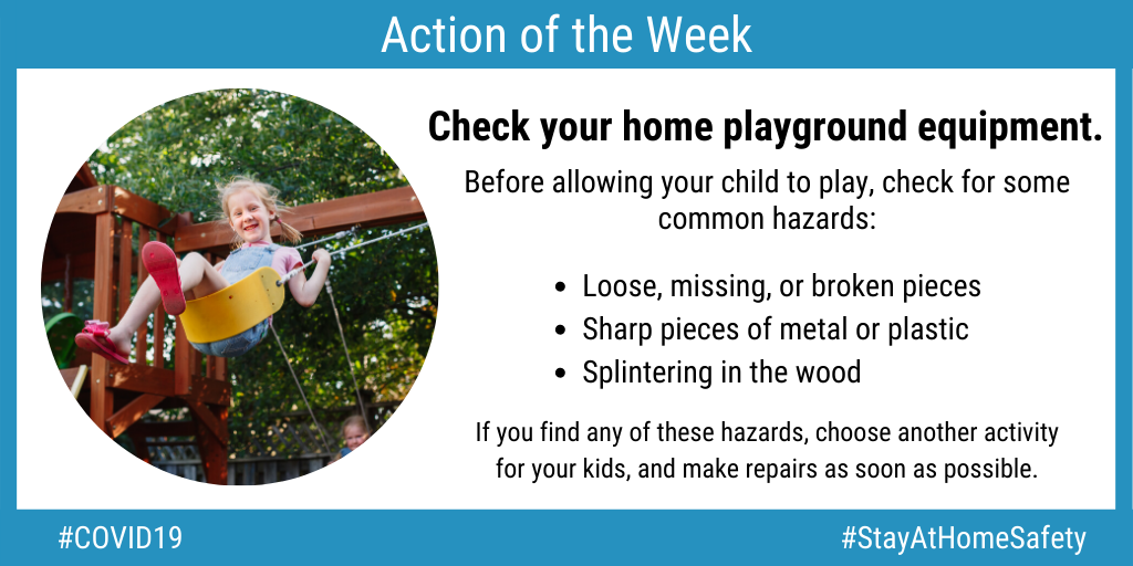 Inspect your home playground equipment for safety