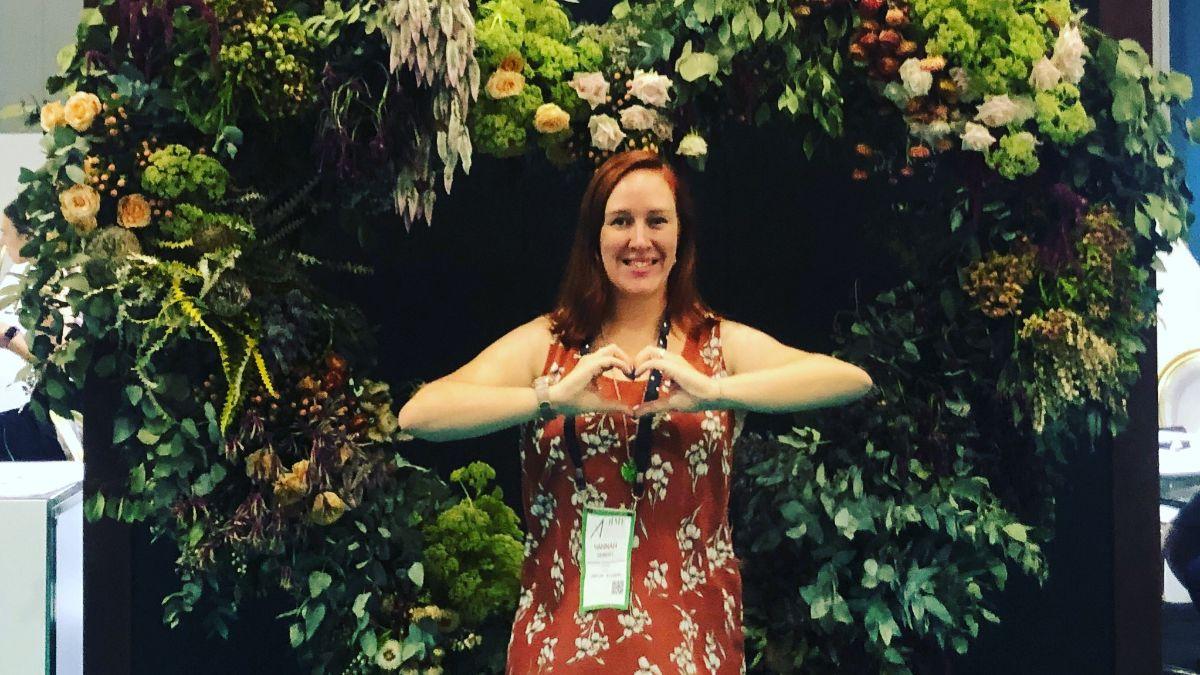 Event scholarship recipient Hannah Gerbert at AIME 2020 in Melbourne