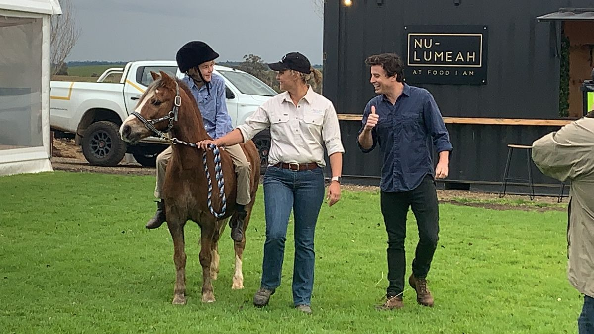 Clive Riethmuller and Shae Meusburger from Belisi Wellbeing & Equestrian Centre