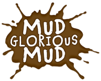 mud splat with words mum glorious mud over the top
