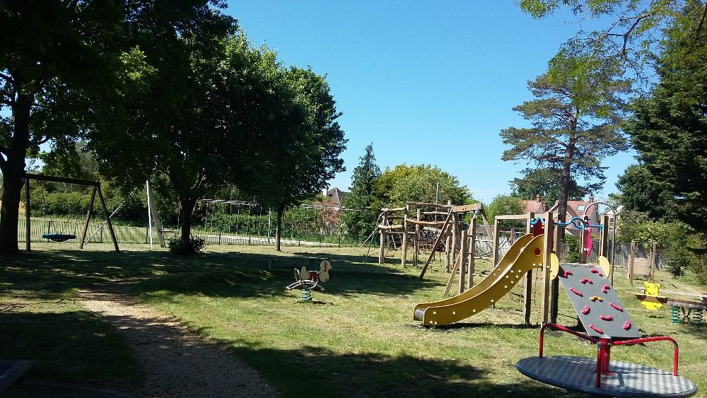 Play equipment at Woodways playground in Haddenham