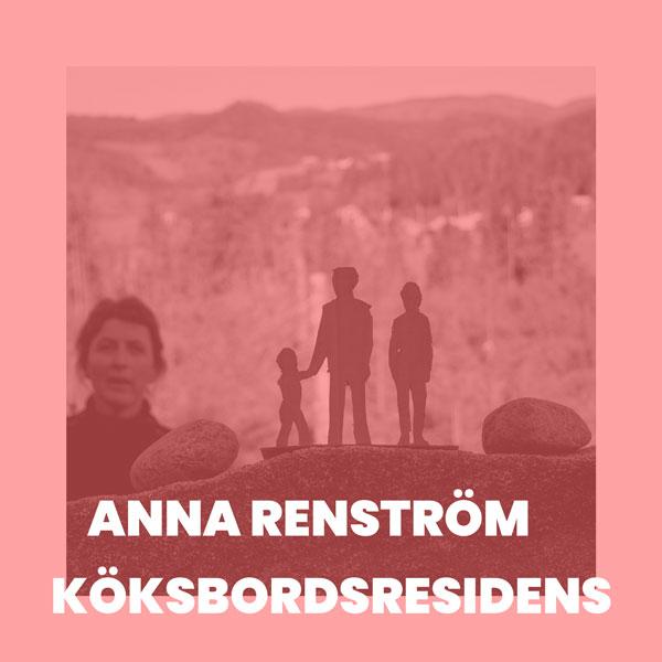 Foto av Anna Renström, monokrom bild i röd-rosa toner.