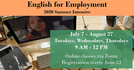 E4E 2020 Summer Intensive - partial poster