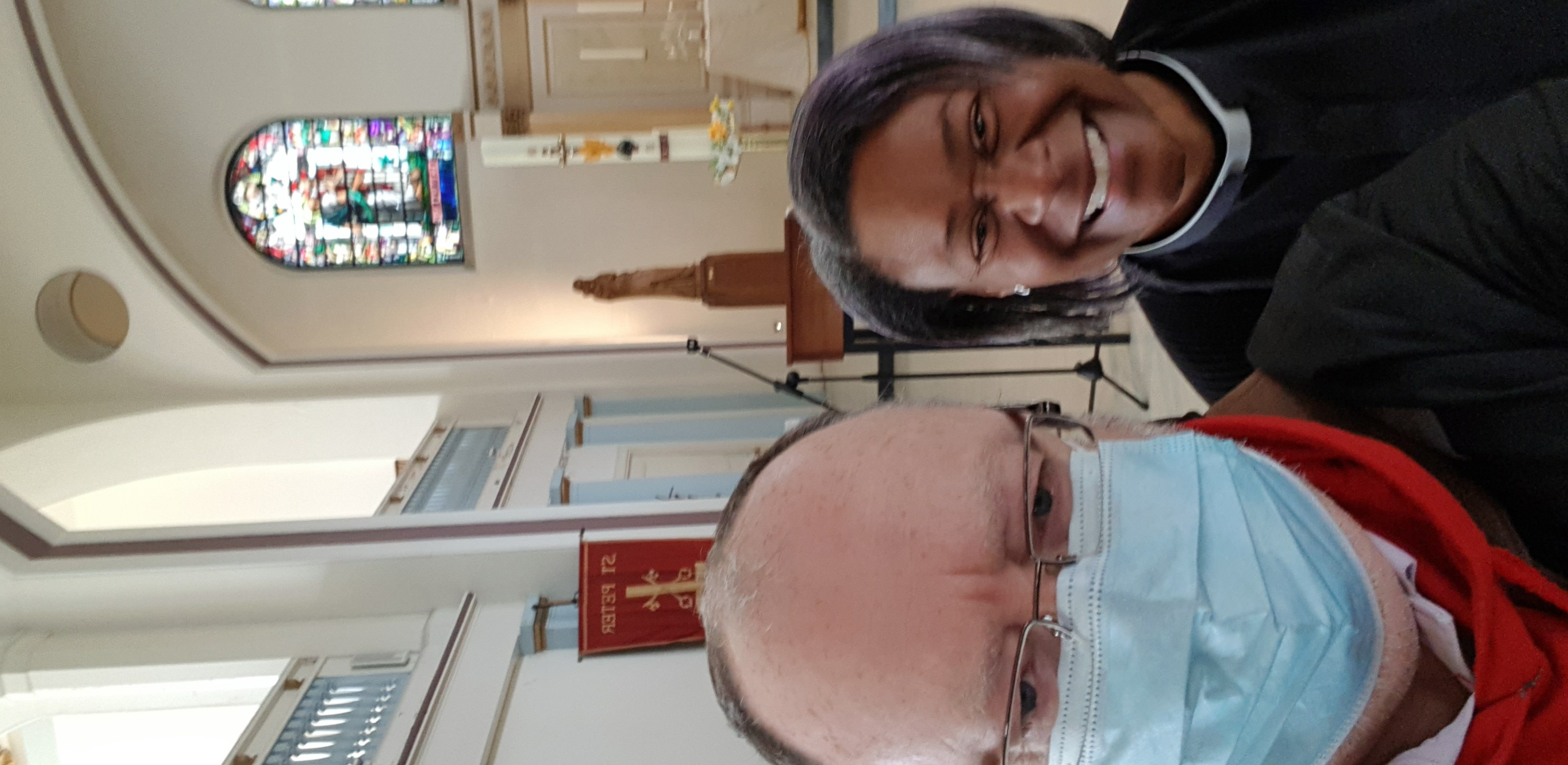 Photo of Gary Hunt and Revd Delorine