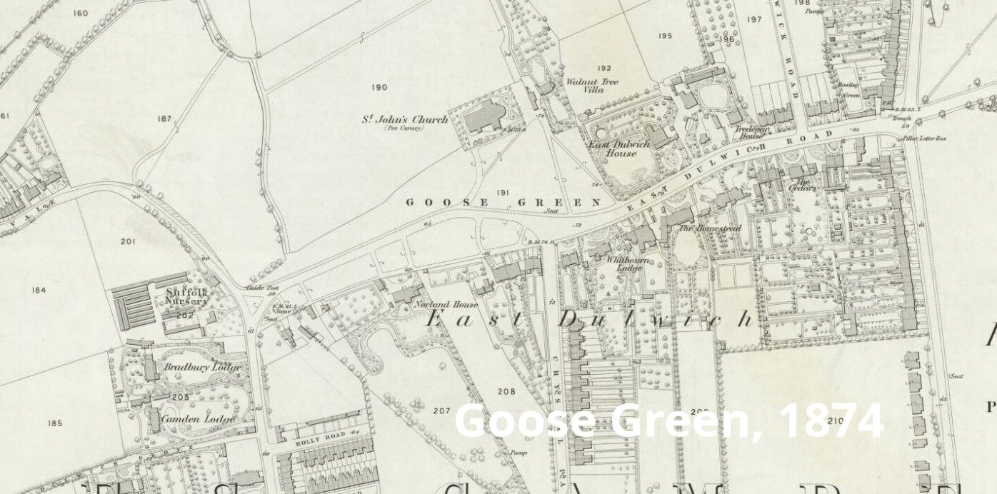 Map of Goose Green, 1974