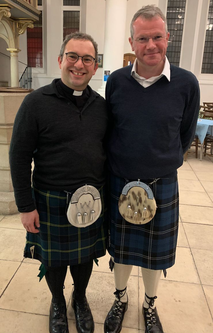 Raymond and his partner John at one of the ceilidhs held at St John's
