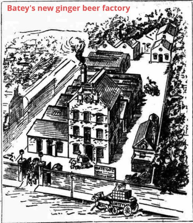 Drawing of Batey's ginger beer factory