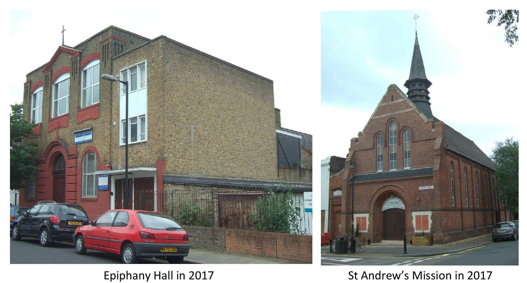 St John's Missions - Epiphany Hall in 2017 and St Andrew's Mission in 2017