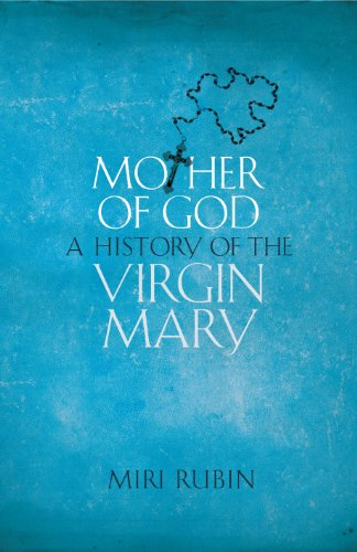 Blue book cover with crucifix embedded in title - Mother of God a history of the Virgin Mary