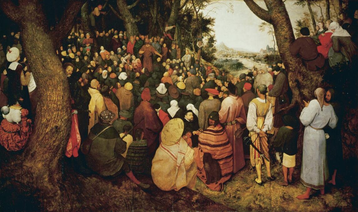 Pieter Bruegel painting of The Sermon of St John the Baptist