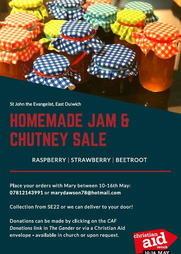 Christian Aid jam and chutney poster