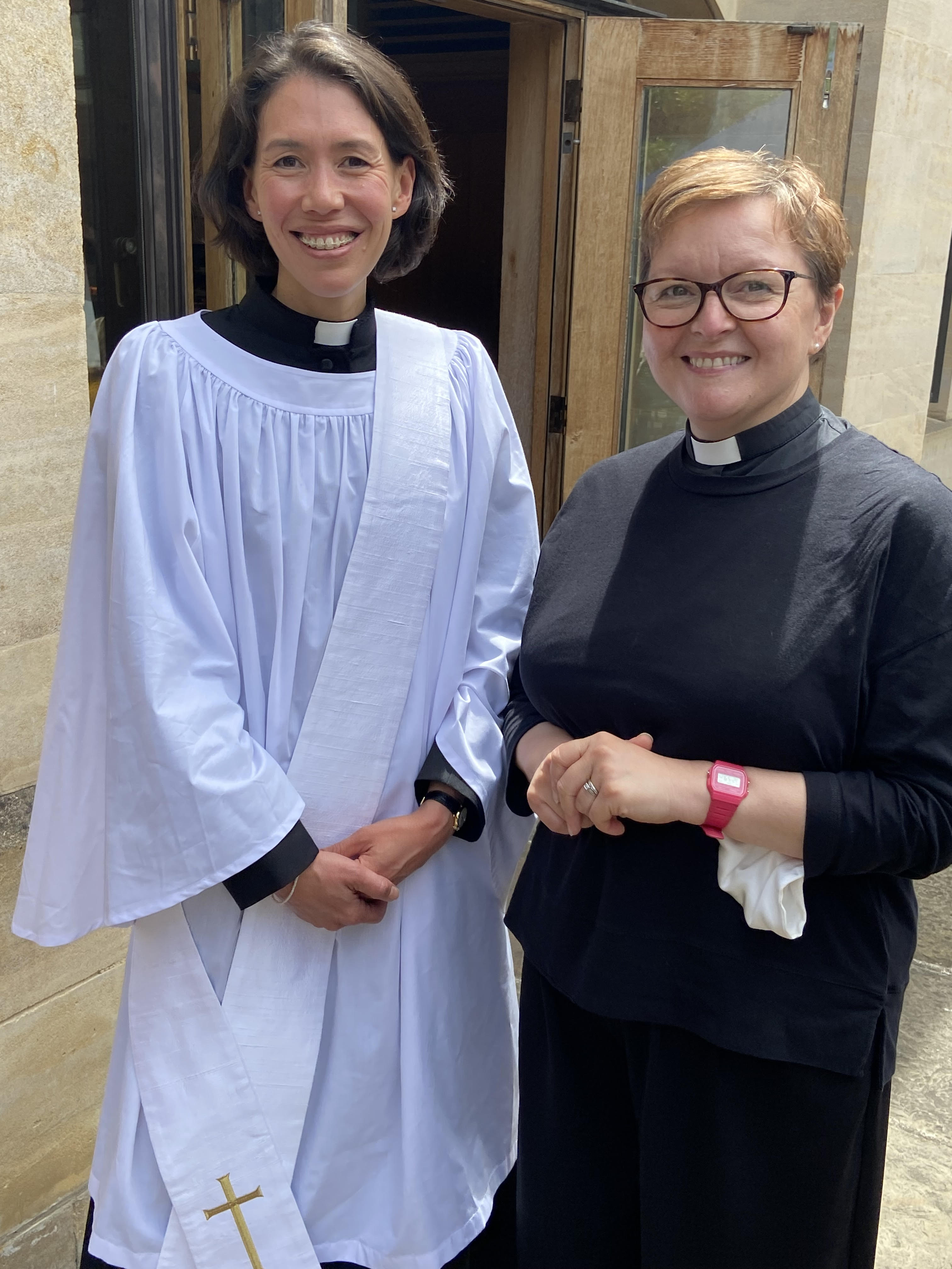 Photo of Gemma and Gill after ordination