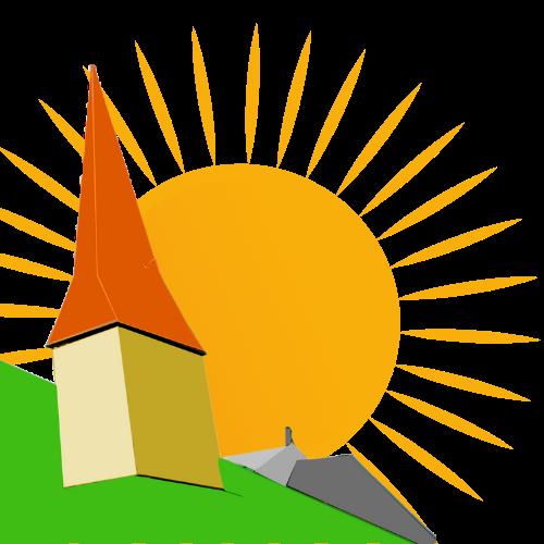 Cartoon of St John's church tower