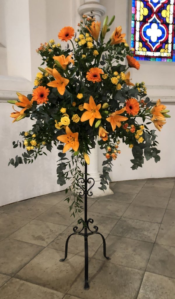 Flowers from Malcolm's funeral