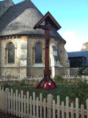 Photo of the calvary outside the church