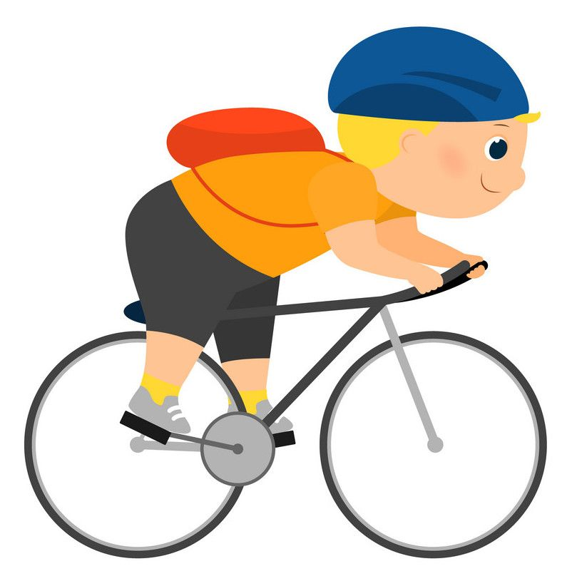 cartoon of cyclist