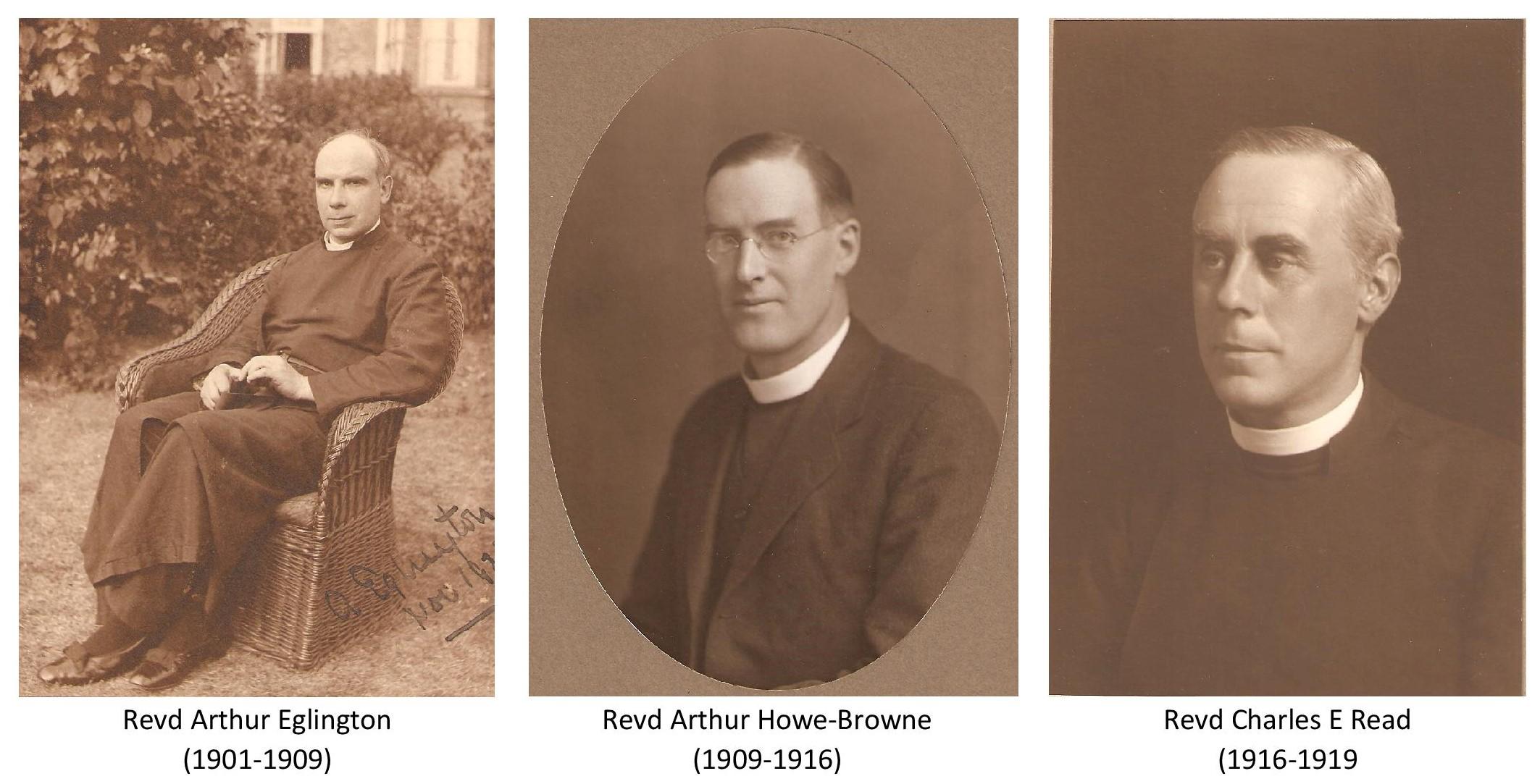 Revd Arthur Eglington, Revd Arthur Howe Browne and  Revd Charles E Read