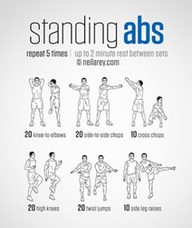 Pictures of standing abs exercises