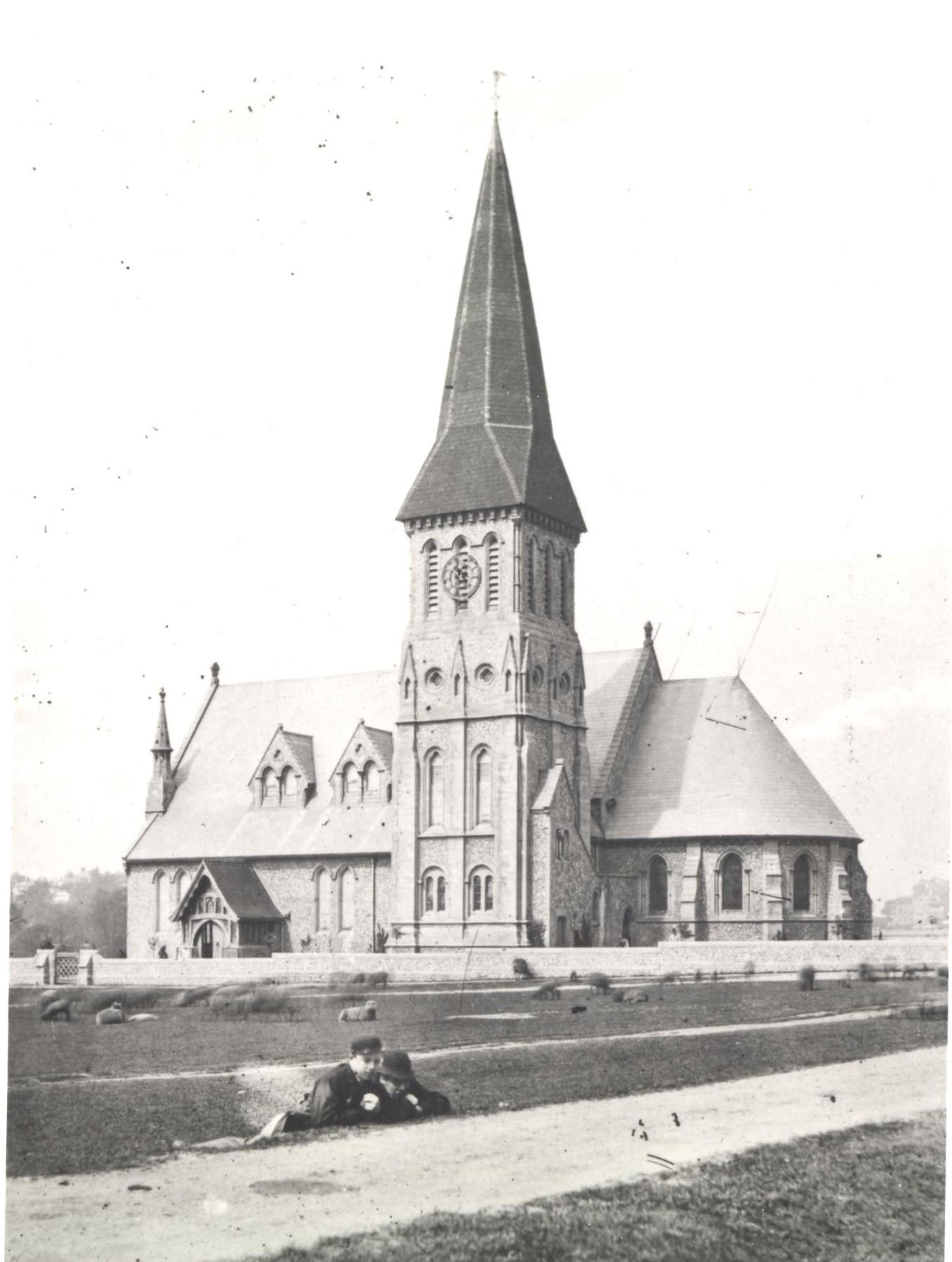 Black & White image of St Johns in 1866