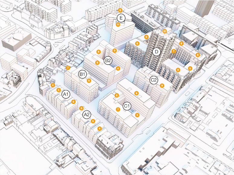 3D map of Aylesbury Centre plan