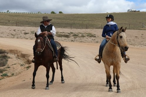 Horse riding in the country in Australia