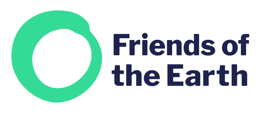 Green circle which is the logo of Friends of the Earth