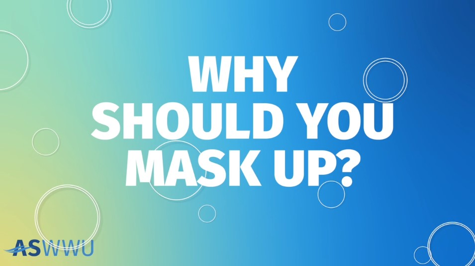 graphic with the words Why Should You Mask Up?