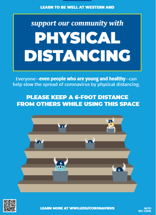 poster touting the impacts of proper physical distancing procedures
