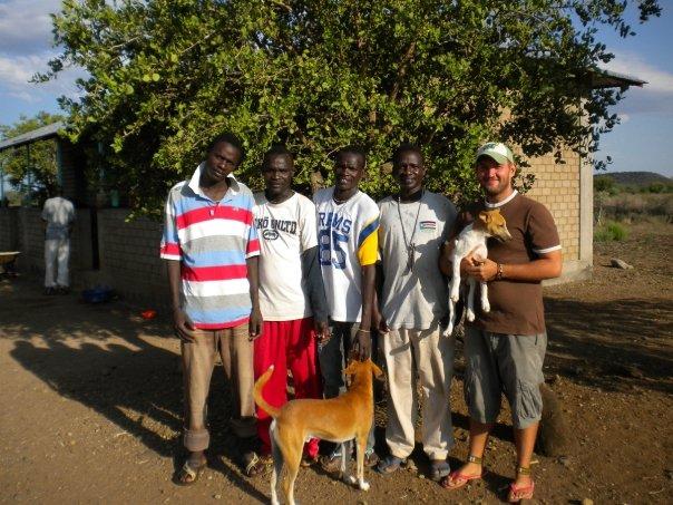 Steve Bennett and his team in South Sudan