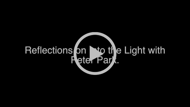 "Header image says ""Reflections on Into the Light with Peter Park"""