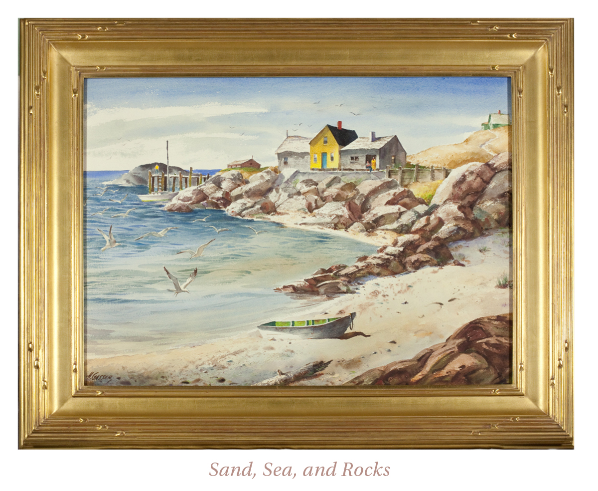 Henry Martin Gasser, Sand, Sea, and Rocks
