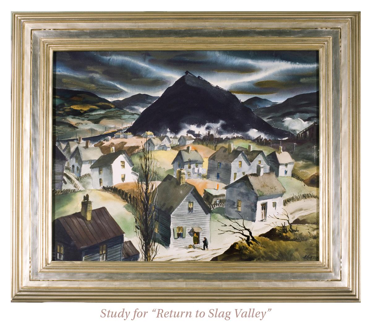 """Henry Martin Gasser, Study for """"Return to Slag Valley"""""""