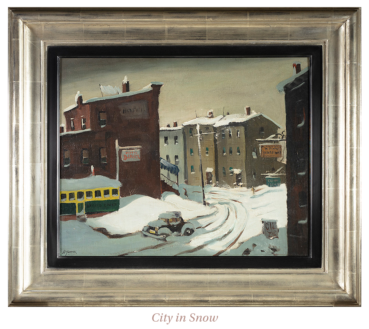 Henry Martin Gasser, City in Snow