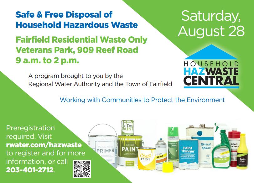 Hazardous Waste Day - Veterans Park, August 28