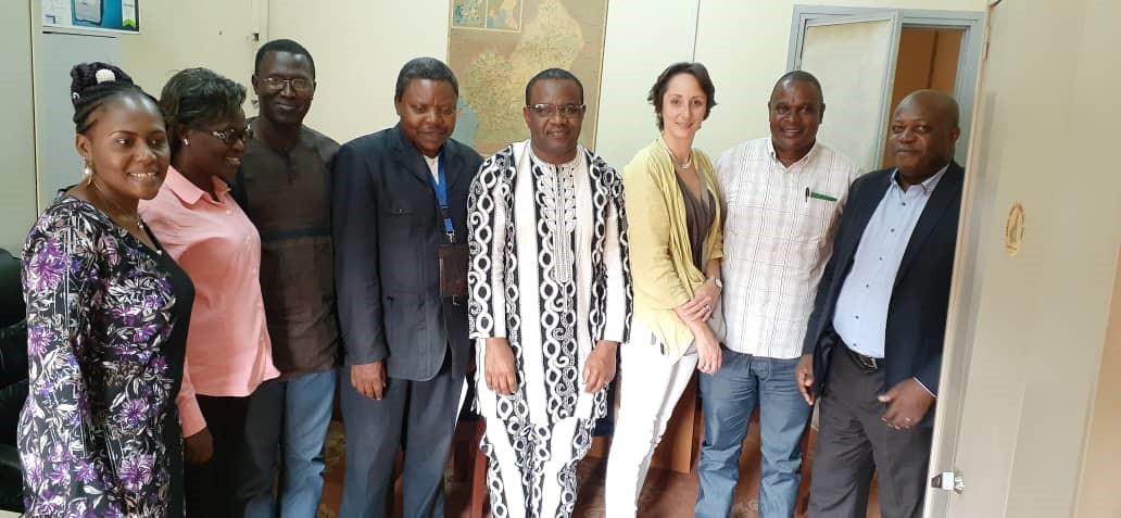Viviane Fossouo (ONSP), Jacqueline Niyungeko (Burundi), Samba Cor Sarr (Sénégal), Paul Roger Libite (INS), Oumarou Gnigninanjouena (ONSP), Aline Labat (ESP-ULB), Léonard Ntakarutimana (Burundi) et Dionis Nizigiyimana (Burundi)