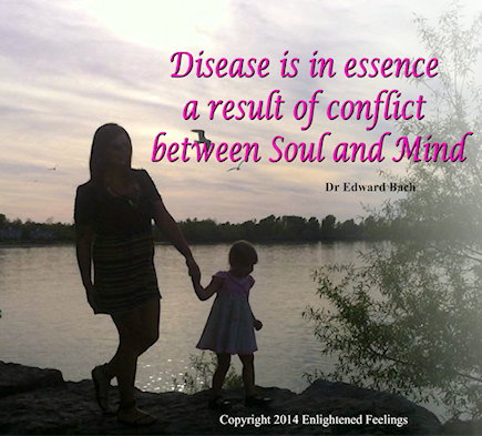 Disease is in essence a result of conflict between Soul and Mind