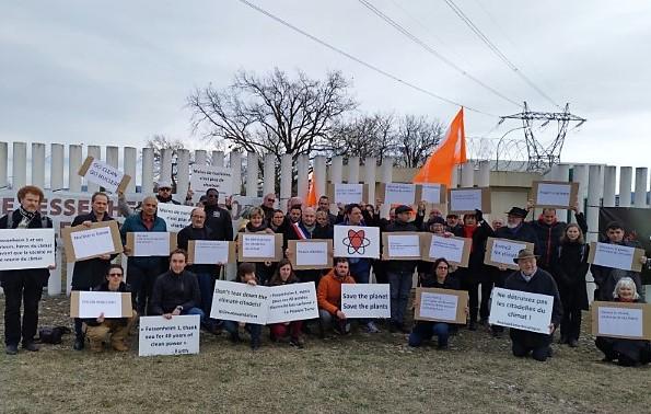 Manifestation contre la fermeture de Fessenheim